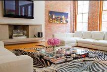 Trend Spotting | Zebra Print / Trend Spotting Zebra Print Interiors in Design, Home Decor, Art, Accessories, Style and Fashion. Featured: Zebra Cowhide Rugs