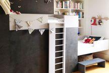 Kids' bedrooms/closets