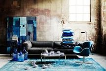 Color Stories | Blue / Trend Spotting Blue Interiors in Design, Home Decor, Art, Accessories, Style and Fashion. Featured: Blue Turquoise Color Palettes