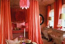 Color Stories | Tangerine Tango / Trend Spotting Tangerine Tango Interiors in Design, Home Decor, Art, Accessories, Style and Fashion. Featured: Pantone Color of the Year 2012 Tangerine Tango Orange Color Palettes