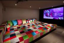 Monumental Media Rooms / Media spaces that have us getting our popcorn ready.