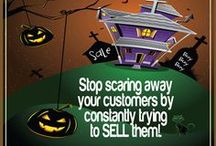 Halloween Marketing Tips / It's that time of year again—Halloween! It is time to face those darn social media fears. It can be scary for sure but facing your fears is the first step to moving closer to success!
