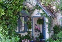 ღ Cottage Charm ღ / Such a quaint place to live. I picture a lovely little staircase leading to an adorable upstairs bedroom nook. I picture little built in shelves.. ahhhh.... *insert sigh here* / by Lisa Coulter