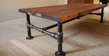 Black Iron Pipe Furniture / Anything made out of black iron pipe that isn't a lamp (see Black Iron Lamps for that).