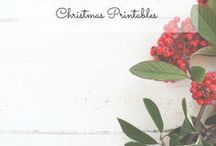 Christmas Printables / Free Christmas printable download, pdf, printables, clip art, watercolor, cards, fonts and graphics