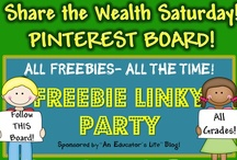 Share the Wealth Freebie Linky Resources / These FREEBIES are from An Educator's Life Blog Freebie Linky Party. Want your item(s) pinned here? Join the Freebie Linky on the 1st and 3rd Saturdays each month! Go here: http://educatorslife.blogspot.com/ Don't forget to follow this board for updates! WAHOO! **PLEASE NOTE: AT THE TIME OF PINNING THESE WERE FREE. IF YOU FIND A PRICED ITEM, PLEASE LET ME KNOW** / by Created by MrHughes