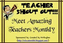 Share the Wealth Teacher Shout Out! / This board is to highlight those teachers who have been selected as featured teachers on An Educator's Life Share the Wealth Teacher Shout Out (Formerly Teacher-Author Spotlight). I hope you will take time to check out a few while you are here. Don't forget to follow this board so you can meet new teachers as they are added! Cheers- Mr. Hughes / by Created by MrHughes