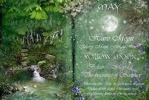 Beltane/ Beltine/Beltaine/May Day /  In Irish it is Bealtaine ([ˈbʲal̪ˠt̪ˠənʲə]), in Scottish Gaelic Bealltainn ([ˈpjaul̪ˠt̪ˠɪɲ]) and in Manx Gaelic Boaltinn or Boaldyn, eve of May 1st. / by Luna Esque