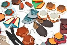 Leather jewellery / bold leather jewellery