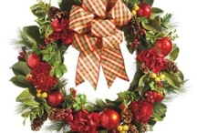 """""""Frontgate Holiday Decor Challenge"""" /  #HolidayDecor Christmas is my favorite time of the year to decorate!  Love all of the old fashion ribbons and wreaths!"""
