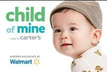 Child of Mine / Child of Mine is a collection designed exclusively for Walmart. Pure Carter's quality with an extra touch of sweetness; so perfect for this little…   CHILD OF MINE