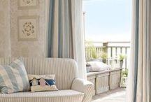 Coastal Inspired Room Mood Board / Inspiration for a seaside room/beach house