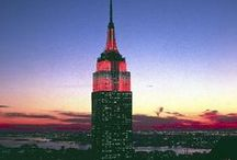 Landmarks & Cities Turn (RED) / Cities around the world have lit their most distinctive landmarks (RED) on World AIDS Day – Dec 1st - to raise awareness of achieving an AIDS Free Generation by 2015.   / by (RED)