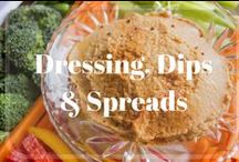 Dressings, Dips and Spreads / Quick and easy, healthy salad dressing, dips and spread recipes