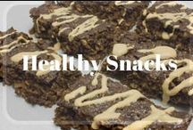Healthy Snacks / Easy, on the go, healthy snack recipes and protein bars for weight loss.