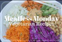 Meatless Monday - Vegetarian Vegan Recipes / Vegan and Vegetarian Meals / Easy Healthy Vegetarian and Vegan Recipes for Meatless Monday or any day of the week!
