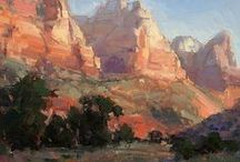 Plein Air Painting / Painting outdoors - facing life and recording the moment is an exciting experience for artists. The art, methods and lifestyle of the plein air artist.