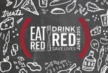 EAT (RED) DRINK (RED) SAVE LIVES 2015 / Where and what you eat can drink can fight AIDS with (RED) this June. Restaurants, food lovers, bars, celebrity chefs, food trucks and everything and anyone in between are uniting with one shared goal: to turn up the heat on the AIDS fight and raise a lot of dough to #86AIDS. www.red.org/eat / by (RED)