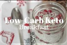 Low-Carb Keto  - Breakfast / Low-Carb Low-Sugar Keto Breakfast Recipes, Healthy, eggs, no egg, ketogenic