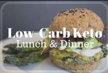 Low-Carb Keto - Lunch & Dinner / Easy Healthy Dinner & Lunch Meals that are: keto, ketogenic, low-carb, low-sugar, grain-free, gluten-free, lchf