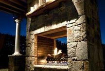 fabulous outdoor fireplaces / by Tina Ledbetter