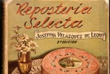 Mexican Cookbook Collection / UTSA's Mexican Cookbook Collection consists of more than 1,000 Mexican, Texan, and Southwestern cookbooks, dating from 1789 to the present.  Want to learn more about one of the cookbooks pinned here?  Just double click on a pin to go to La Cocina Histórica, UTSA Libraries Special Collections' culinary history blog.