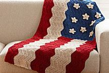 4th of July Crochet Patterns / Show some love for the U.S.A. with these patriotic patterns: Red White and Blue Crochet, American Flag Crochet Patterns, Crochet Star Pattern, and 4th of July Crochet Patterns. / by AllFreeCrochetAfghanPatterns