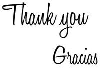 Welcome/Bienvenido / Thank you