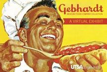 Gebhardt Mexican Foods Company / UTSA Libraries is proud to house the records of the San Antonio company that made chili powder famous. Visit our companion virtual exhibit to follow the tale of Willie Gebhardt and how his company introduced families in the United States to Mexican convenience foods.  lib.utsa.edu/gebhardt