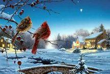 Art- Winter Scenes / Winter Scenes from art pictures.