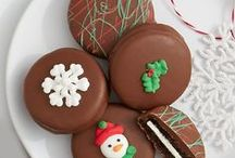 Celebrate the Holidays / Candy canes. Christmas berries. Snowmen brownie pops. Have a holly, jolly, and delicious, Christmas. / by Shari's Berries