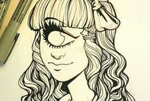 Draw It / Ideas~Tutorials~Sketches~References & Fun Drawings To Try  / by Ginger Monkey21
