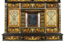 Cn✏ANDRE-CHARLES BOULE, BRITAIN BUHL WORK ☔ / Andre Charles Boulle, (French)Cabinetmaker, Fame in Marquetry, Fashion, Perfected of Inlaýing brass & tortoise -shell, known as Boulle. Art, new style for Europ