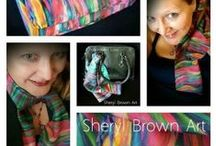 Sheryl Brown Art / Limited Edition - Artist Signed - Wearable Art - Silk Scarves - Original Acrylic Paintings - Inspirational Mini Posters  by http://www.SherylBrownArt.com Copyright by Sheryl Brown, All Rights Reserved