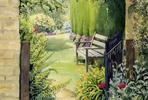 Garden Gates -The best place to seek God is in a garden.  You can dig for him there.--George Bernard Shaw / by Wendy Foster