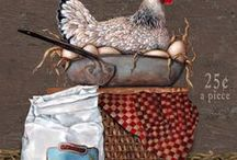 Rooster-&-Chickens=Decore And More / by Sharon Corcilius