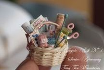 The Needle Arts - in Miniature! / Our collection of teeny tiny stitched treasures.