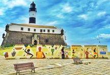 Salvador - Bahia / Salvador – Bahia, tem muitos encantos, cores, e axé. #voali