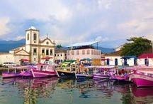 """Paraty - Rio de Janeiro / A cidade de Paraty foi fundada pelos portugueses em 1667. O seu nome """"Paraty"""" significa """"encontro das águas"""" na linguagem indígena, e já era chamada assim pelos índios que habitavam o local antes de ser colonizado. #voali"""