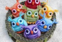 Búhos crochet