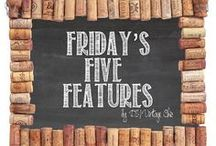 DIY Vintage Chic ~ 2013 & 2014 ~ Friday's Five Features