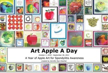 Apples For Ankylosing Spondylitis / A year of daily apple art to raise awareness of all forms of Spondylitis. And - then some more that have been added since the 365 days completed!