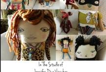 JenniferVisscher.com / The Art of Jennifer Visscher. Art Dolls, Original Art, & Free coloring page downloads. http://jennifervisscher.com