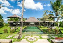 Villa Mahatma, Canggu / Villa Mahatma is a sleek and sophisticated beachfront 5-bedroom villa that boast spacious walled garden with vast swimming pool, and a grand sense of space living areas with dramatic interiors. Designed in contemporary architectural style, this villa is just a few minute walk to a charming traditional Balinese village of Seseh and its rugged surf beach. This villa is also a perfect venue for an intimate wedding, gathering or a lavish celebration.