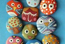Crafts: Painted Rocks / #painted #rocks #rock / by Bobbie Ann