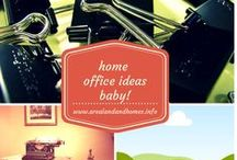 Home Office Ideas Baby! / This is where I share all the cool ideas I find for Home Offices or offices in general. Visit my blog at http://www.arealandandhomes.info