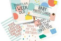 Baby Photo Cards - Cotton Candy / milestone-world milestone-baby milestone-baby-cards