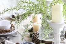 Easter / Easter decorating ideas for the home, including tablescapes.
