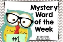 Word Work / Resources to help teachers, students, and parents work on words while having fun!