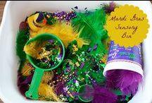 Mardi Gras Theme / Preschool, kindergarten, early elementary theme / unit curriculum, crafts, songs, finger plays, printables, games, math, science, ideas.